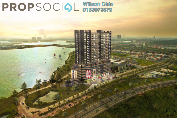 For Sale Condominium at Saville @ D'Lake, Puchong Leasehold Semi Furnished 1R/1B 320k