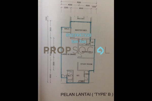 For Sale Townhouse at Casa Utama, Bandar Utama Freehold Semi Furnished 3R/2B 588k