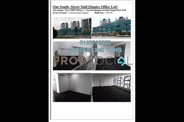 For Sale Office at One South, Seri Kembangan Freehold Semi Furnished 0R/0B 780k