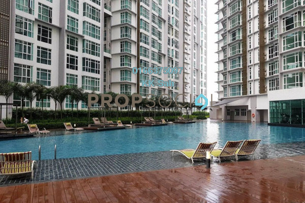For Rent Condominium at Central Residence, Sungai Besi Freehold Semi Furnished 3R/2B 1.7k