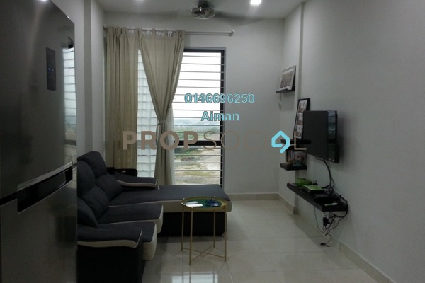 For Rent Apartment at Suria Ixora, Setia Alam Freehold Fully Furnished 3R/2B 1.5k
