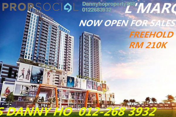 For Sale Duplex at L'MARQ Residence, Semenyih Freehold Semi Furnished 1R/1B 200k