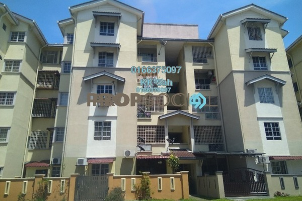 For Rent Apartment at Bandar Botanic, Klang Freehold Semi Furnished 3R/2B 1.1k