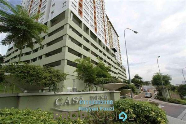 For Rent Condominium at Casa Desa, Taman Desa Freehold Semi Furnished 3R/2B 1.4k