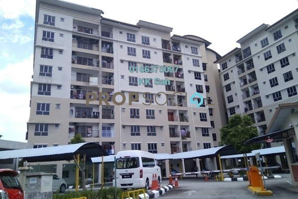 For Sale Apartment at Section 1, Bandar Mahkota Cheras Freehold Semi Furnished 3R/2B 295k