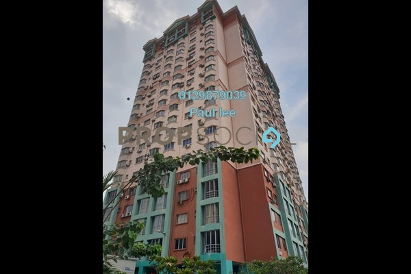 For Sale Apartment at Menara KLH, Bandar Kinrara Freehold Semi Furnished 3R/2B 220k