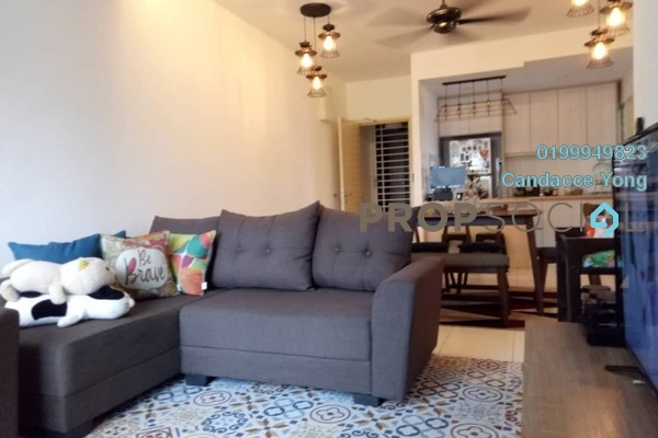 For Sale Apartment at Seri Pinang Apartment, Setia Alam Freehold Semi Furnished 3R/2B 340k