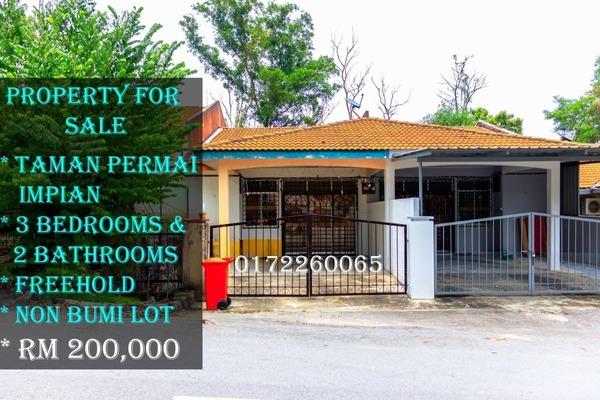 For Sale Terrace at Taman Permai Impian, Seremban Freehold Unfurnished 3R/2B 200k