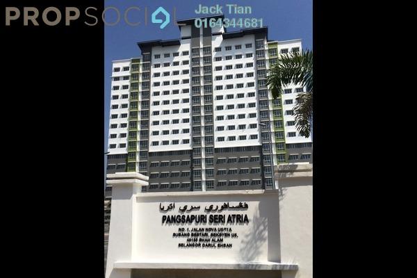 For Sale Condominium at Seri Atria Apartment, Subang Freehold Semi Furnished 3R/2B 295k