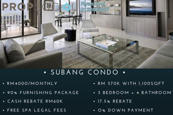 For Sale Serviced Residence at Taman Subang Murni, Subang Freehold Fully Furnished 3R/4B 570k