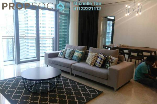 For Rent Serviced Residence at K Residence, KLCC Freehold Semi Furnished 2R/2B 6k