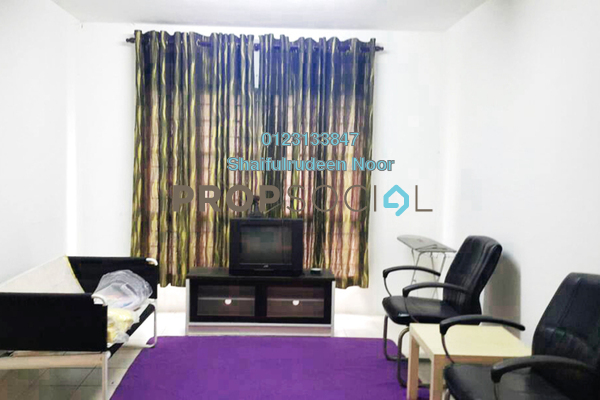 For Rent Apartment at Section 7, Shah Alam Freehold Fully Furnished 3R/2B 1.2k