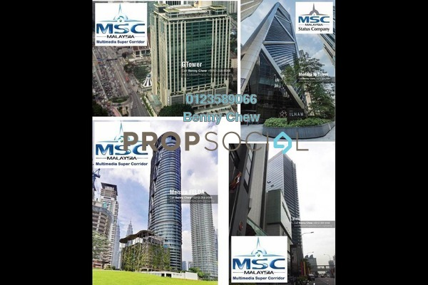 For Rent Office at The Intermark, KLCC Freehold Semi Furnished 0R/0B 13k
