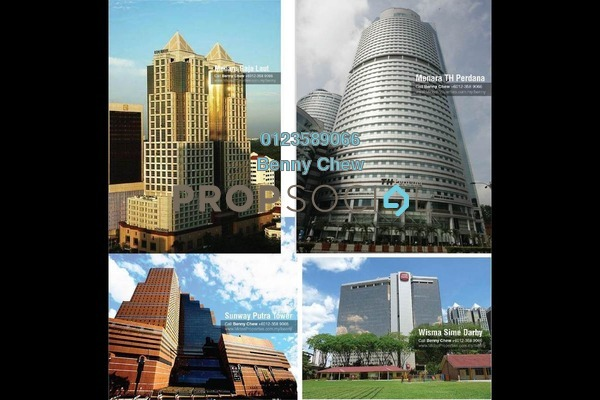 For Rent Office at Jalan Raja Laut, Chow Kit Freehold Semi Furnished 0R/0B 8k