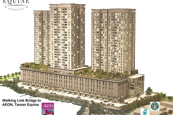 For Sale Condominium at Taman Equine, Seri Kembangan Leasehold Semi Furnished 3R/2B 430k