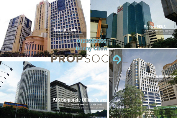 For Rent Office at Section 8, Petaling Jaya Freehold Semi Furnished 0R/0B 8k