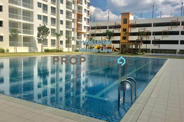 For Sale Condominium at D'Cerrum @ Setia EcoHill, Semenyih Freehold Semi Furnished 3R/2B 270k