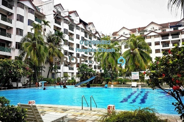 For Sale Serviced Residence at Bayu Beach Resort Hotel, Port Dickson Leasehold Fully Furnished 2R/2B 380k