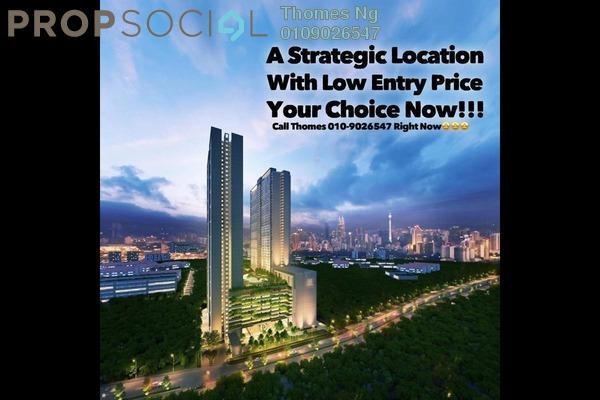 For Sale Condominium at M Centura, Sentul Freehold Unfurnished 3R/2B 450k