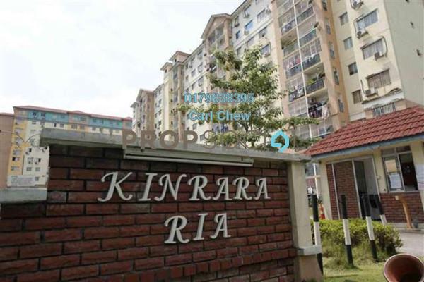 For Sale Apartment at Kinrara Ria, Bandar Kinrara Freehold Semi Furnished 3R/2B 320k