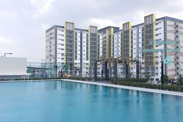 For Rent Apartment at Seri Pinang Apartment, Setia Alam Freehold Semi Furnished 3R/2B 850translationmissing:en.pricing.unit
