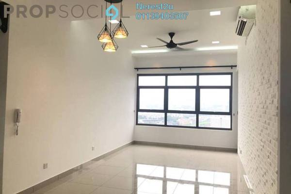 For Rent Condominium at Lakeville Residence, Jalan Ipoh Freehold Semi Furnished 3R/2B 1.5k