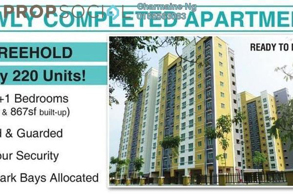 For Rent Apartment at Akasia @ Berjaya Park, Shah Alam Freehold Semi Furnished 3R/2B 1k