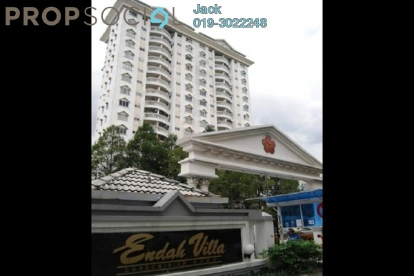 For Rent Condominium at Endah Villa, Sri Petaling Freehold Fully Furnished 2R/2B 1.7k