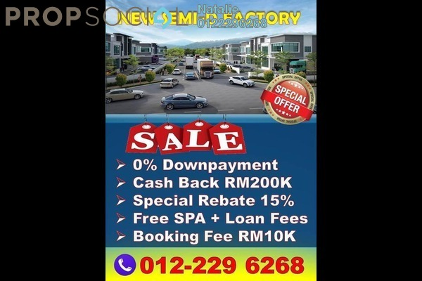 For Sale Factory at Semenyih Hi-Tech Industrial Park, Semenyih Freehold Unfurnished 0R/5B 2.06m