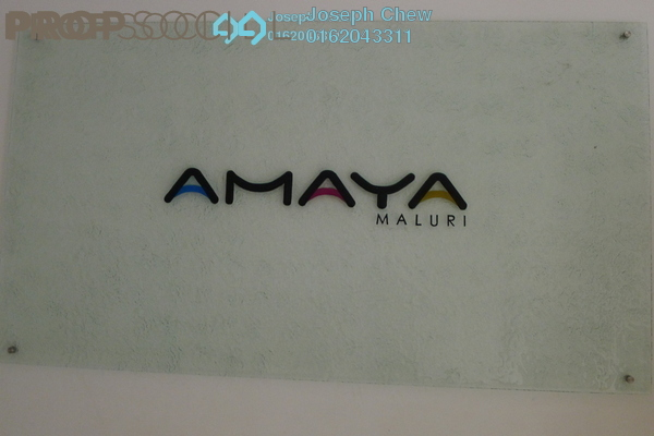For Rent Serviced Residence at Amaya Maluri, Cheras Leasehold Semi Furnished 1R/2B 1.8k