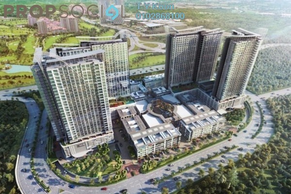 For Sale Serviced Residence at Conezión @ IOI Resort City, Putrajaya Freehold Semi Furnished 2R/2B 464k