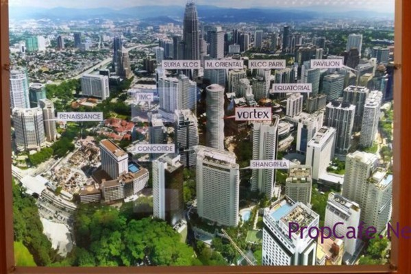 For Sale Condominium at Vortex Suites & Residences, KLCC Freehold Semi Furnished 3R/2B 1.3m