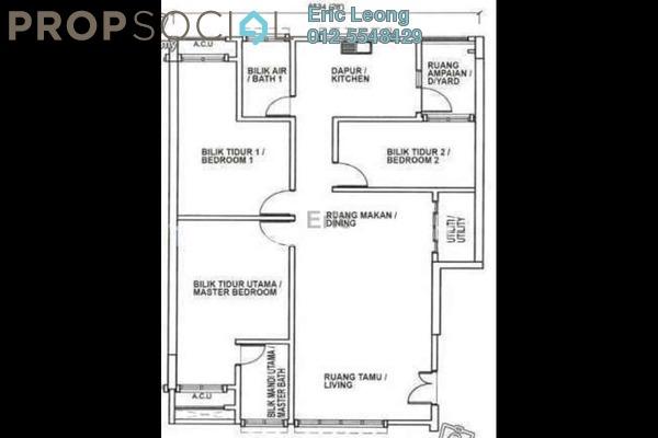 For Rent Apartment at Pandan Indah, Pandan Indah Leasehold Fully Furnished 2R/1B 1.5k