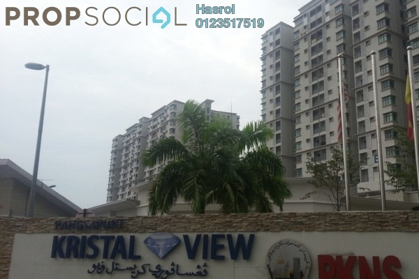 For Rent Condominium at Kristal View, Shah Alam Leasehold Fully Furnished 3R/2B 2.5k