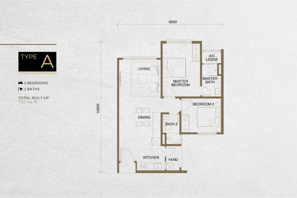 The Tropika Type A Floor Plan