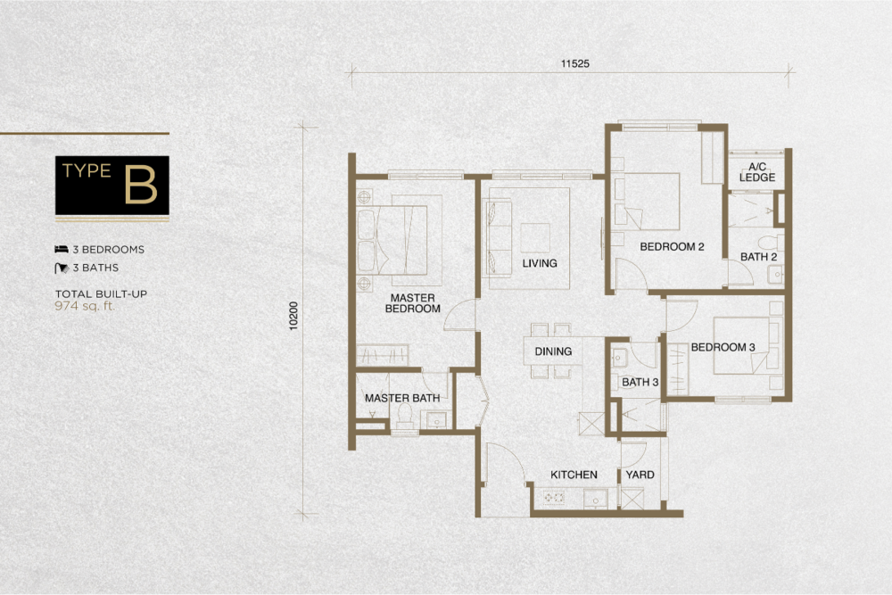 The Tropika Type B Floor Plan