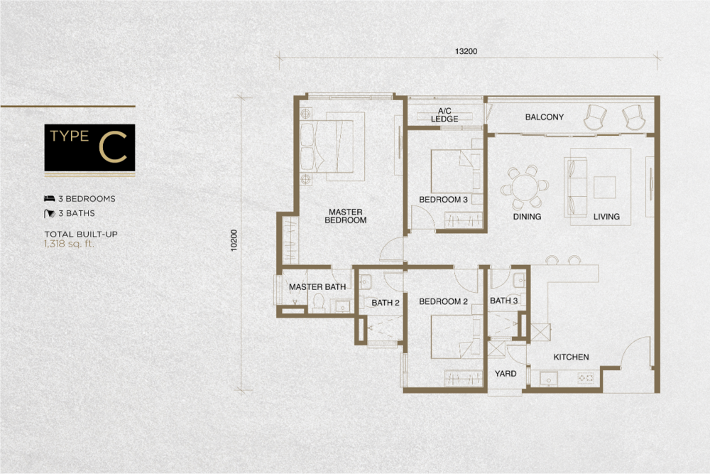 The Tropika Type C Floor Plan