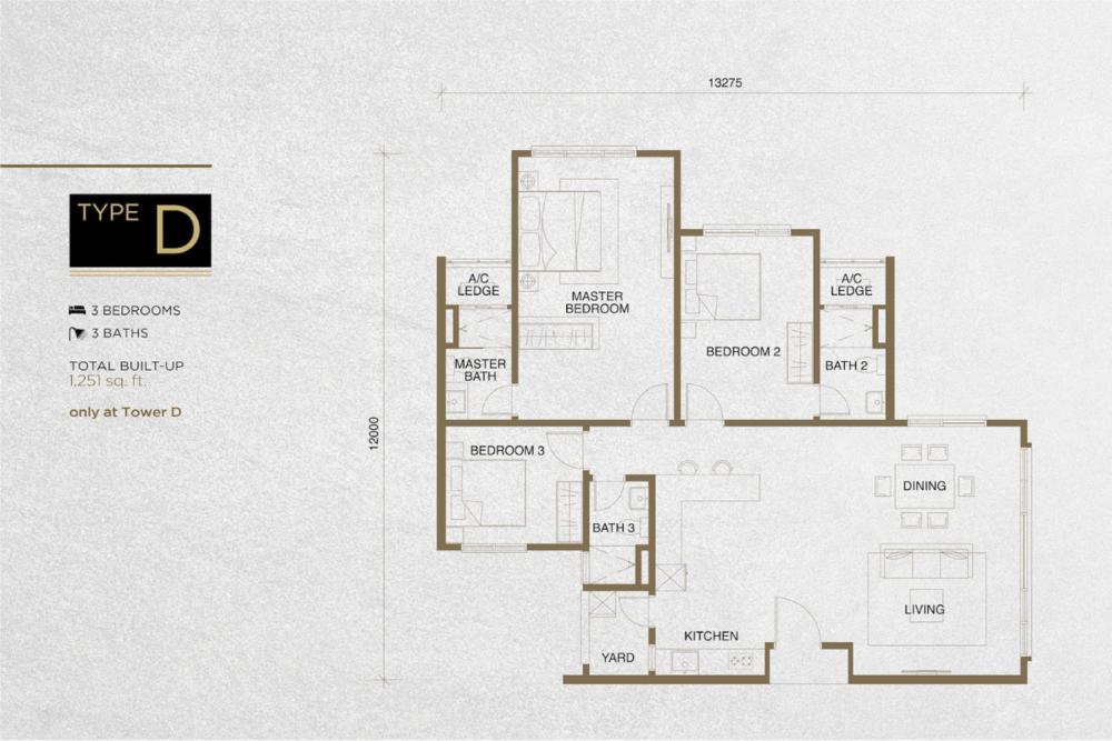 The Tropika Type D Floor Plan
