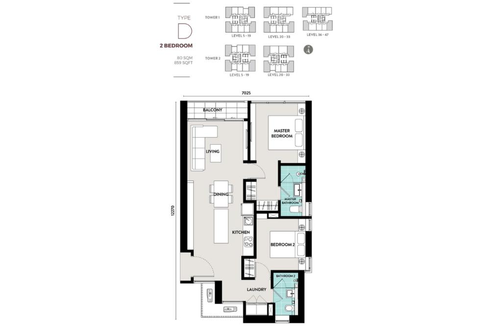 Lucentia Residences Type D Floor Plan