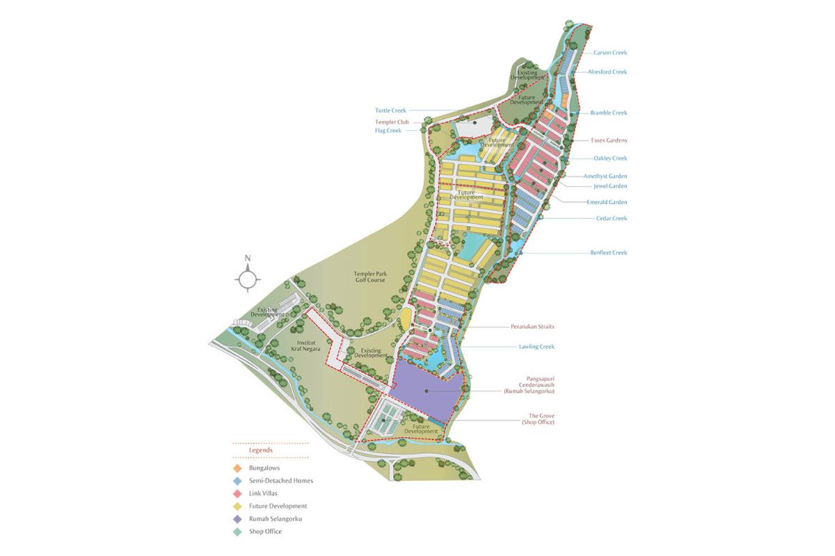 Master Plan of Setia Eco Templer