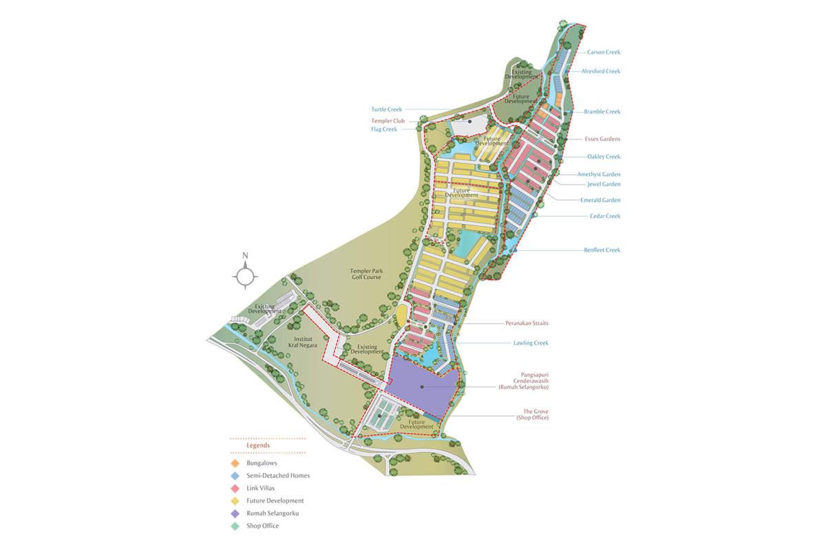 Master Plan of Amantara @ Setia Eco Templer