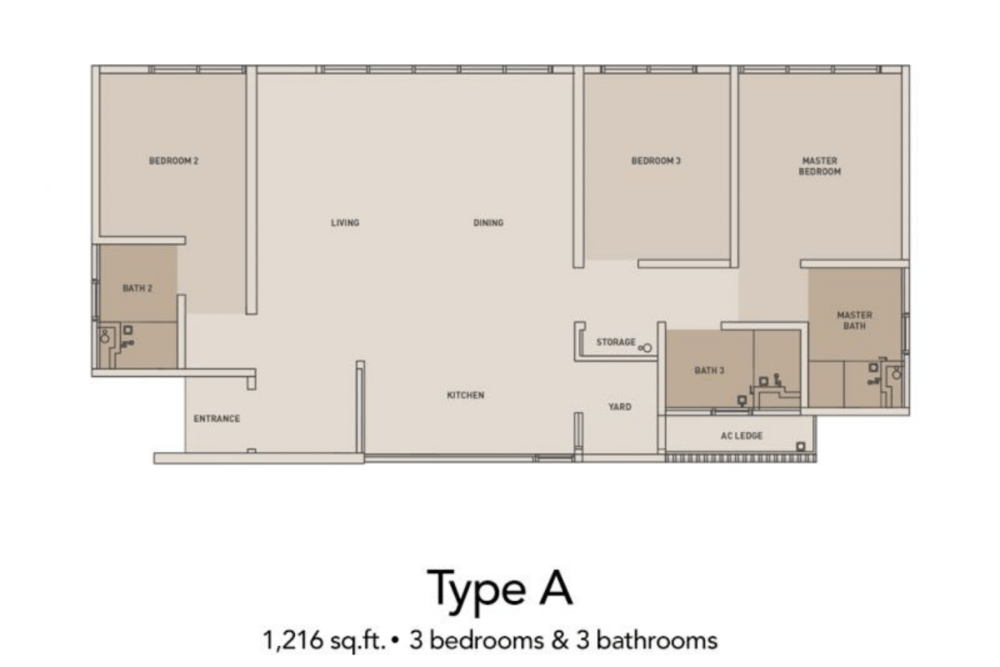 The Clio 2 Residences Type A Floor Plan