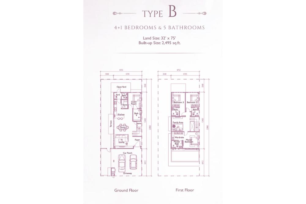 Precinct Arundina @ Setia Eco Park Type B (Plathea) Floor Plan