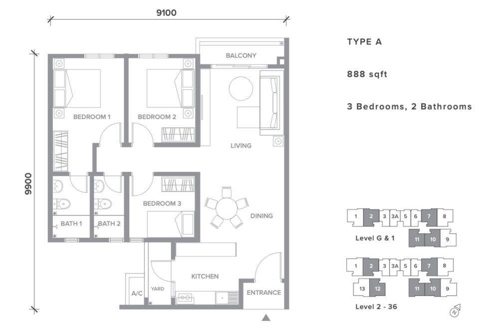 Sensory Residence Type A Floor Plan