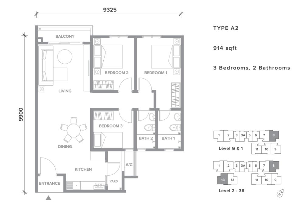 Sensory Residence Type A2 Floor Plan