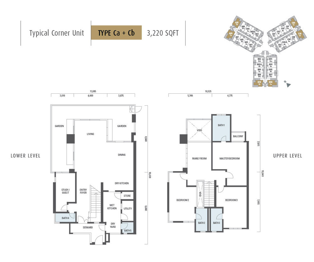 Armanee Terrace II Type Ca + Cb Floor Plan
