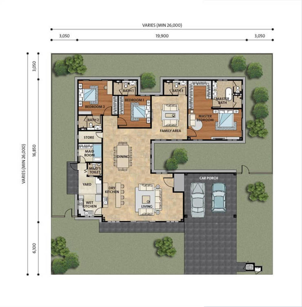 Setia Eco Park Ashville Floor Plan