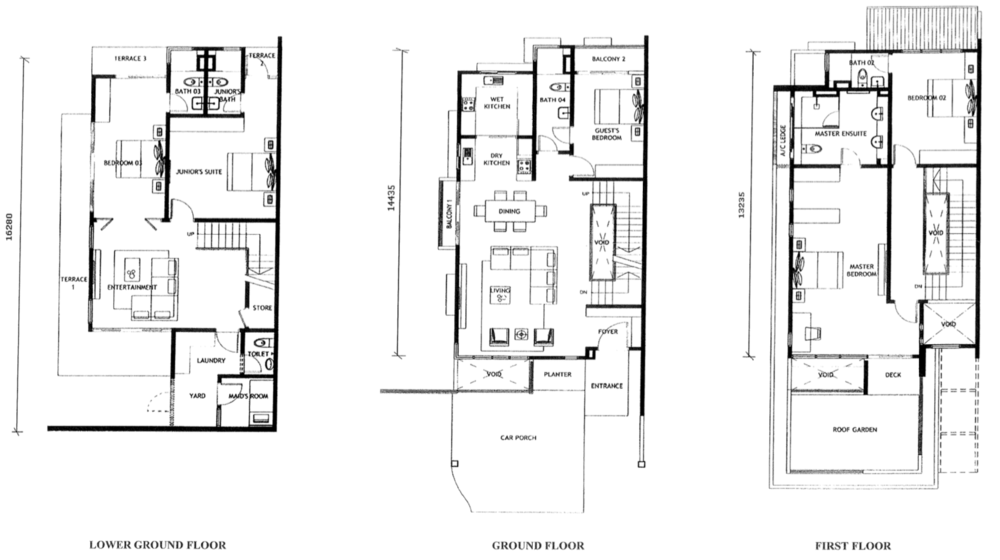 Jade Hills Twin Villas Type A Floor Plan