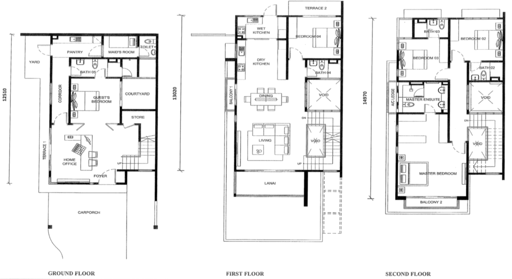 Jade Hills Twin Villas Type B Floor Plan