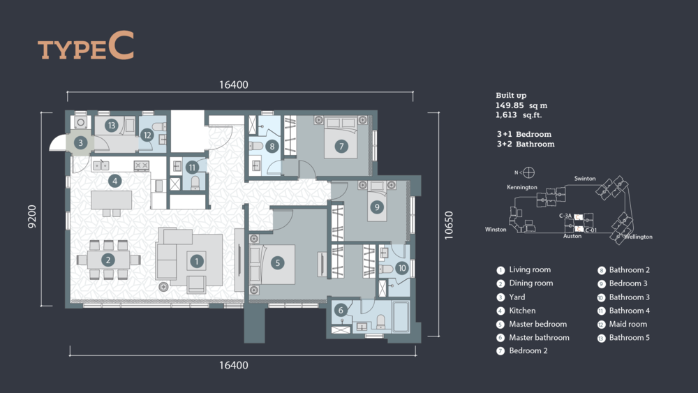 D'Rapport Residences Type C Floor Plan